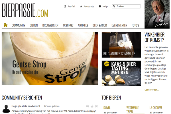 Bierpassie.com screenshot